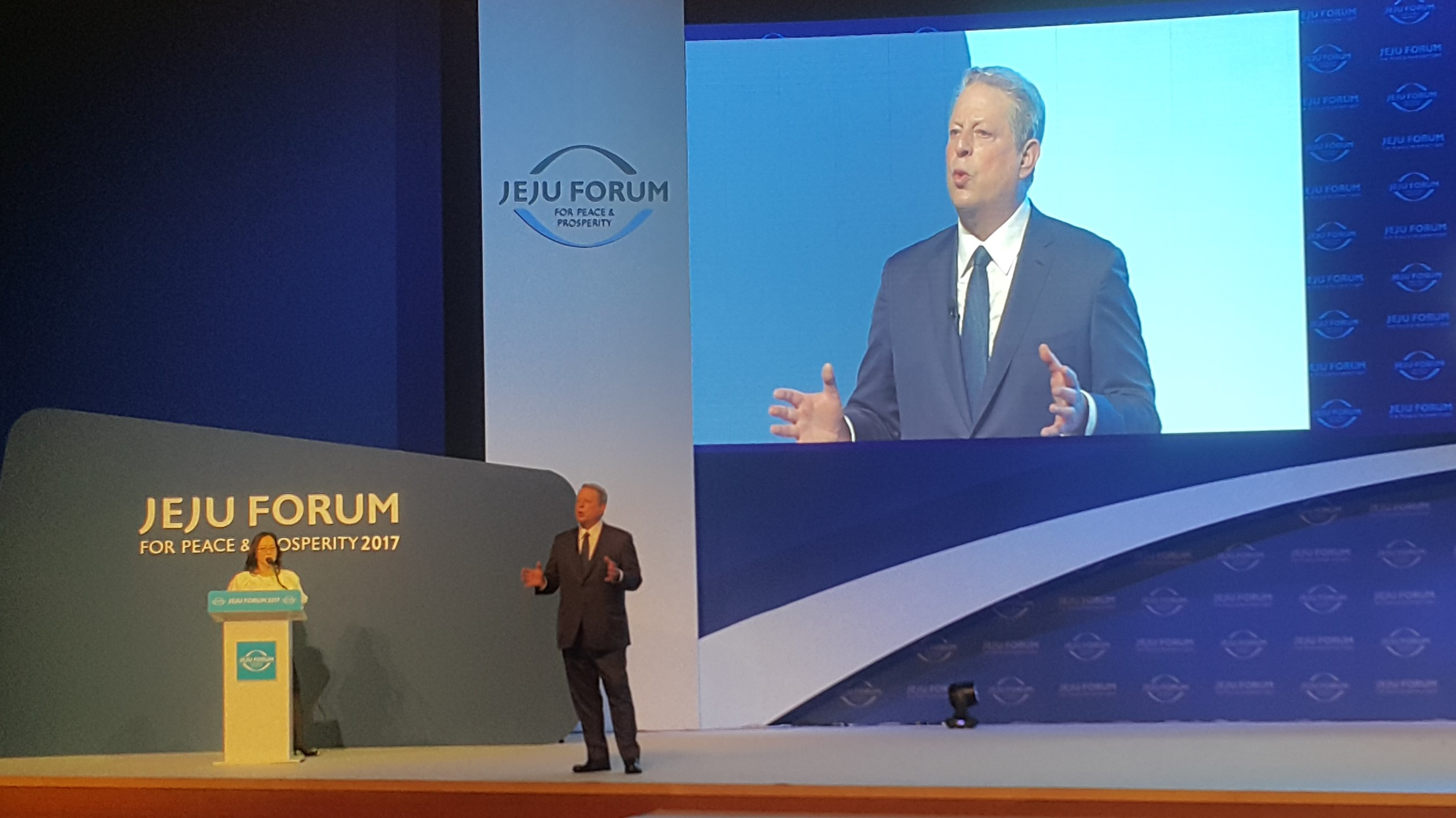 "Al Gore at The Jeju Forum for Peace and Prosperity 2017: ""We are in the early years of a global sustainability revolution"""