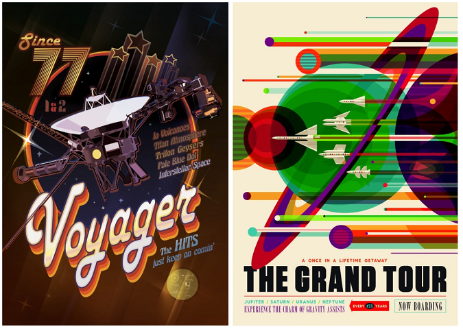 Nasa unveil beautiful posters to celebrate 40 years since voyager