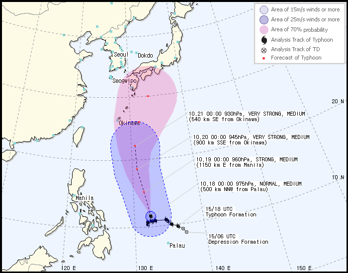 Typhoon Lan expected to just miss Jeju