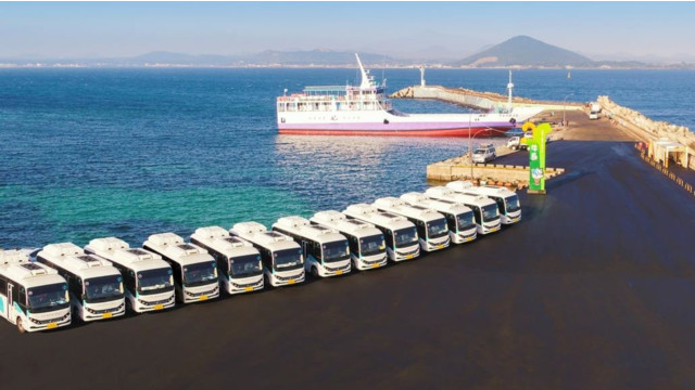 Fleet of 20 electric buses launched on Udo Island