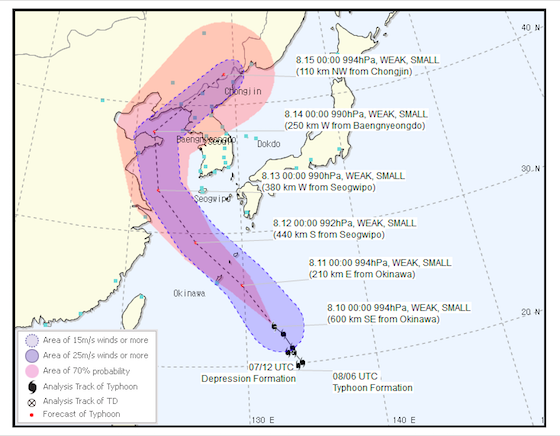 Will Jeju affected by the Typhoon